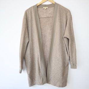 UO Oversized Cozy Tan Cardigan Sweater